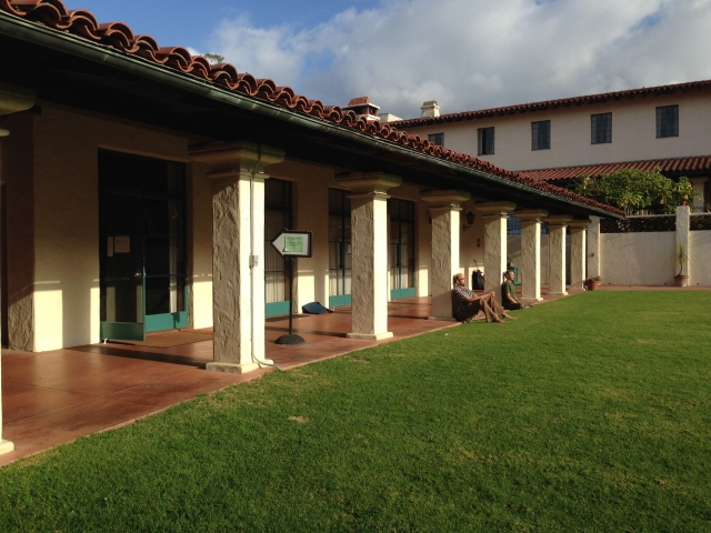 Dharma students take a break from lectures and meditation at a B. Alan Wallace retreat in Santa Barbara.