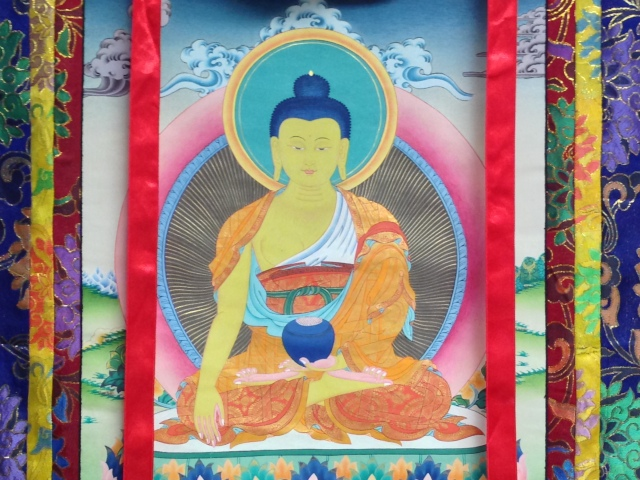 The Thangka that hangs in the BIBS Center.